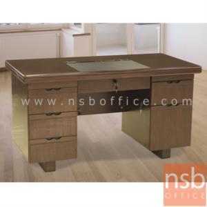 โต๊ะผู้บริหารทรงตรง 6 ลิ้นชัก รุ่น Gere (เกียร์) ขนาด 140W cm.
