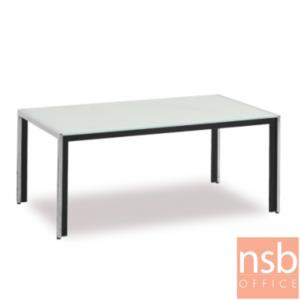B13A243:โต๊ะกลางกระจกพ่นสี  รุ่น GD-BD ขนาด 90W cm. โครงเหล็ก
