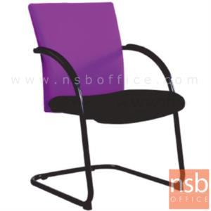 B04A080:เก้าอี้รับแขกขาตัวซี รุ่น KT-TW/1C  ขาเหล็กพ่นดำ