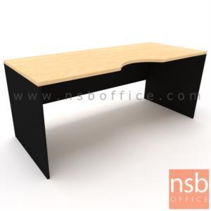 A12A060:โต๊ะทำงานโล่งหน้าเว้าโค้งใบไม้   ขนาด 120W,150W,180W*(60D,75D) cm.  ไม่รวมพาร์ทิชั่น