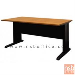 A05A031:โต๊ะประชุมตรง   ขนาด 80W ,120W ,150W ,180W ,210W ,240W cm.  พร้อมบังตาไม้ ขาเหล็กตัวแอล