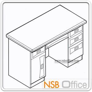 โต๊ะผู้บริหารทรงตรง 4 ลิ้นชัก รุ่น Traveler (แทเวลเลอร์) ขนาด 120W cm.