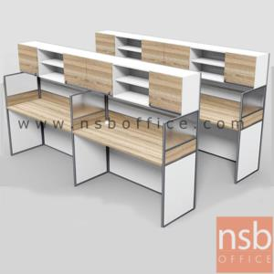 A04A194:ชุดโต๊ะทำงานกลุ่มหน้าตรง 4 ที่นั่ง รุ่น SR-S124 ขนาดรวม 246W ,306W cm.