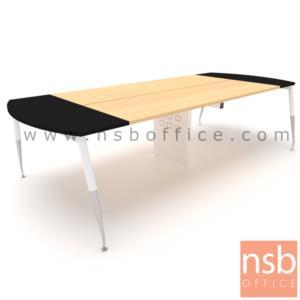 A05A167:โต๊ะประชุมหัวโค้ง  ขนาด 300W ,340W ,460W ,540W ,640W*ลึก120 cm.  ขากลางมีกล่องนำสายไฟตรงกลาง ขาเหล็กเหลี่ยม