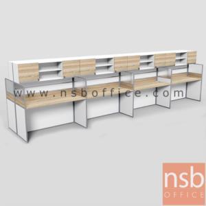 A04A197:ชุดโต๊ะทำงานกลุ่มหน้าตรง 8 ที่นั่ง รุ่น SR-S116  ขนาดรวม 490W ,610W cm. มีและไม่มีตู้แขวนเอกสาร