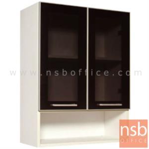 K01A020:ตู้แขวน บนบานเปิดกระจก-ล่างช่องโล่ง 80H cm