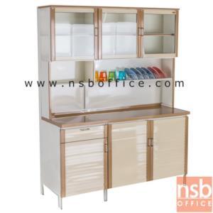 G07A081:ตู้ครัวบานเกล็ด 3 บานเปิดสูง รุ่น AL151 ขนาด 150W*54D*190H cm.