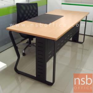 A18A057:โต๊ะผู้บริหารทรงสี่เหลี่ยม รุ่น TJ-899 ขนาด 180W cm. พร้อมตู้ข้างล้อเลื่อน ขาเหล็ก