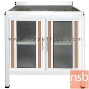G07A126:ตู้ครัวตอนล่างอลูมิเนียมหน้าเรียบ กว้าง 80 ซม