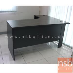 โต๊ะผู้บริหารตัวแอลหน้าโค้งเว้า 2 ลิ้นชัก รุ่น Lovato (โลวาโต) ขนาด 150W1*120W2 cm.