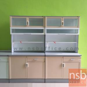 G07A089:ตู้ครัวสูงอลูมิเนียมหน้าเรียบ กว้าง 100 cm.