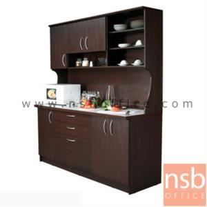 G10A014:ชุดตู้ครัวหน้าเรียบ 180 cm. ER-0118  พร้อมตู้ลอย