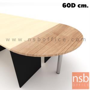 A04A068:โต๊ะเข้ามุมครึ่่งวงกลม รุ่น Hendrix (เฮนดริกซ์) ขนาด 120W, 150W, 160W*60D cm. เมลามีน ขากลมโครเมี่ยม
