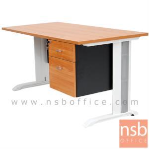 A18A001:โต๊ะทำงาน 2 ลิ้นชัก  120W, 135W, 150W, 180W (60D) cm. ขาเหล็กตัวแอล