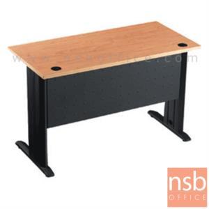 A10A007:โต๊ะทำงาน ขนาด 120W*75H cm. บังโป้เหล็ก รุ่น S-DK-0021  ขาเหล็กตัวแอลสีดำ