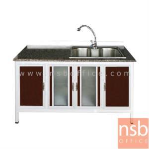ตู้ครัวตอนล่างอลูมิเนียมอ่างซิงค์ 1 หลุมลึก   กว้าง 160 ซม