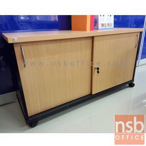 C01A008:ตู้เอกสารล้อเลื่อน สูง 65 cm. 2 บานเลื่อนทึบ วางข้างโต๊ะ รุ่น EP-4102  เมลามีน