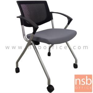 B28A082:เก้าอี้สำนักงานหลังเน็ต รุ่น CVR-429  ขาเหล็กพ่นสีบรอนซ์