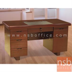A06A072:โต๊ะผู้บริหารทรงตรง 6 ลิ้นชัก รุ่น Gere (เกียร์) ขนาด 140W cm.