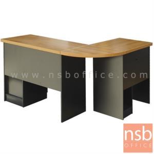 A16A072:โต๊ะทำงานตัวแอลมุมโค้ง รุ่น DS-SL ขนาด 120W cm. พร้อมโต๊ะข้าง