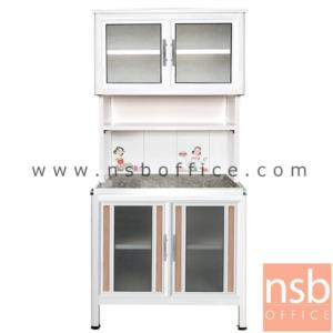 K08A001:ตู้ครัวอลูมิเนียมหน้าเรียบ กว้าง 100 ซม. รุ่น GAPE 100