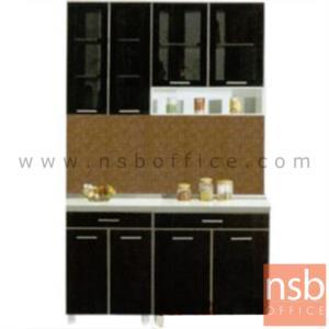 K01A023:ชุดตู้ครัว พร้อมตู้แขวน รุ่น SR-MARKET-140H  พร้อมตู้แขวนลอย
