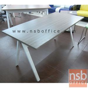 A23A002:โต๊ะทำงาน  รุ่น DK-ALEG15  ขนาด 150W*75H cm. ขาเหล็กตัวเอ