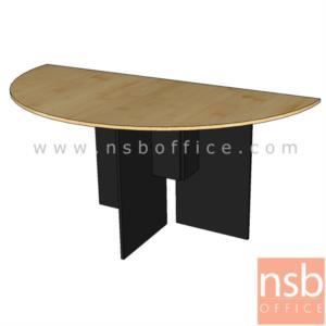 A05A072:โต๊ะเข้ามุมครึ่งวงกลม รุ่น DF-1130 ขนาด 130W ,150W cm.  เมลามีนล้วน