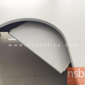 โต๊ะผู้บริหารตัวแอลหน้าโค้งเว้า  รุ่น TY-2DC ขนาด 165W1*120W2 cm. พร้อมรางคีย์บอร์ด เมลามีน