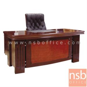 A06A049:โต๊ะผู้บริหารตัวแอล รุ่น Reflection  ขนาด 160W cm. พร้อมตู้ลิ้นชักและตู้ข้าง