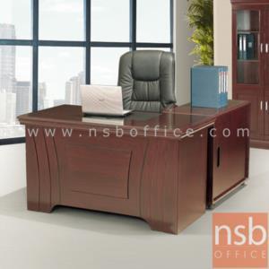 A06A073:โต๊ะบริหารตัวแอล  รุ่น FTS-FCF263 ขนาด 140W cm. พร้อมตู้ข้างและตู้ลิ้นชัก