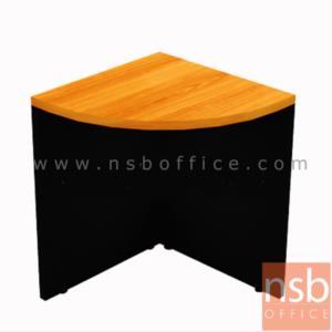 A05A041:โต๊ะเข้ามุมโค้ง รุ่น TY-1122 ขนาด R60 cm.   เมลามีน สีเชอร์รี่ดำ