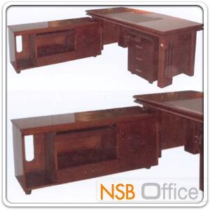 โต๊ะผู้บริหารตัวแอล  รุ่น Mend (เมนด์) ขนาด 160W cm. พร้อมตู้ลิ้นชักและตู้ข้าง