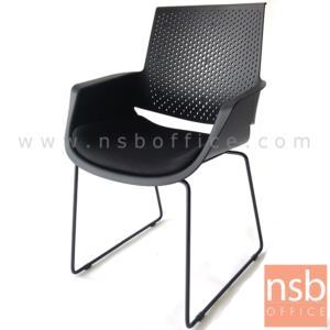 B04A178:เก้าอี้รับแขกขาตัวยู รุ่น GH-60  ขาเหล็กพ่นดำ