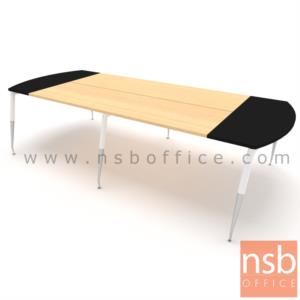A05A102:โต๊ะประชุมหัวโค้ง  ขนาด 300W,340W ,460W ,540W ,640W*ลึก150 cm.  ขาปลายเรียว ปลายขาเงา