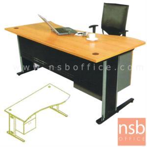 A06A003:โต๊ะผู้บริหารทรงหน้าโค้งคลื่น  รุ่น NA-180 ขนาด 180W cm. ขาตัวแอลโครเมี่ยม