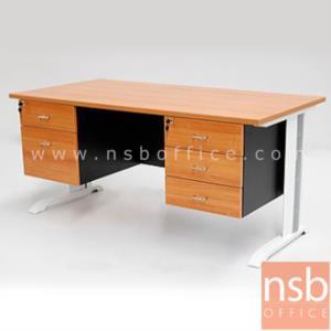 A10A041:โต๊ะทำงาน 5 ลิ้นชักข้าง  ขนาด 150W ,165W ,180W (*60D,75D) cm.  เมลามีน