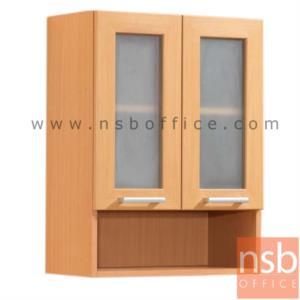 ตู้แขวนบานเปิดกระจก-ล่างช่องโล่ง สูง 80 ซม. รุ่น SR-WLM-G มือจับอลูมิเนียม