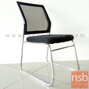 B04A190:เก้าอี้รับแขกขาตัวยู รุ่น Aireen (ไอรีน)   ขาเหล็กชุบโครเมี่ยม