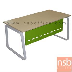 A06A104:โต๊ะผู้บริหารทรงสี่เหลี่ยม รุ่น TJ-1401 ขนาด 160W,180W cm.  บังตาเหล็ก ขาเหล็กทรงคางหมู