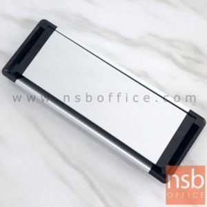 A24A013:ฝาป๊อปอัพอลูมิเนียมฝังหน้าโต๊ะขอบดำ รุ่น 7204 ขนาด 30W ,40W cm.