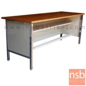 A05A062:โต๊ะประชุมตรง รุ่น N-742MM ขนาด 119.7W ,152.5W ,182.5W cm. ขาเหล็ก 4 ขามีปุ่มปรับระดับ