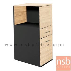 C01A039:ตู้กั้นข้างโต๊ะสำหรับ 1 ที่ันั่ง  สูง 115 cm.  2 ลิ้นชัก 1 บานเปิด บนช่องวางเอกสาร