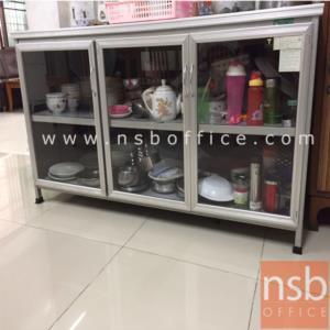 G07A058:ตู้ครัวอลูมิเนียม SANKI หน้าบานกระจกใส รุ่น SMC 78H*152.5W cm.