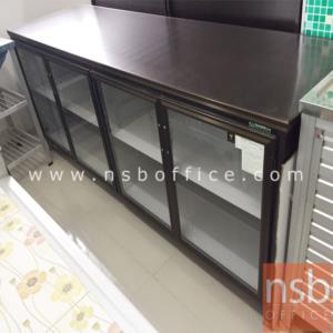 G07A059:ตู้ครัวอลูมิเนียม SANKI หน้าบานกระจกใส รุ่น SMC 78H*198W cm.